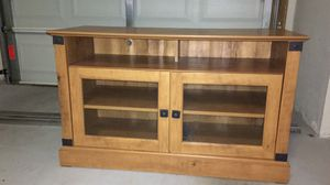 Tv stand by wood for Sale in Pompano Beach, FL