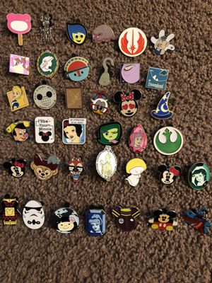 Disney character Disney pins. All of them were traded at Disneyland and Disneyland California by my KIDS. They are not actual collectors so I can't for Sale in Chula Vista, CA