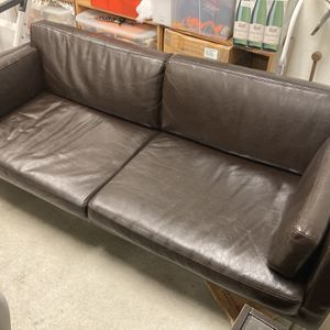 Ikea Sater Faux Leather Modern Couch for Sale in Beaverton, OR