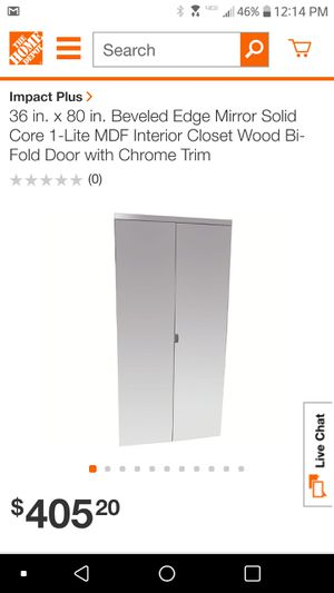 36 x 80 mirrored bi-fold door (have 2) for Sale in Nashville, TN