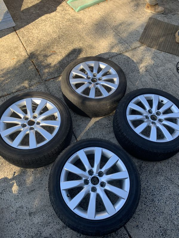 Wheel and tire set