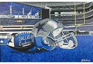 Dallas Cowboys Painting Copy 16x20 for Sale in San Antonio, TX