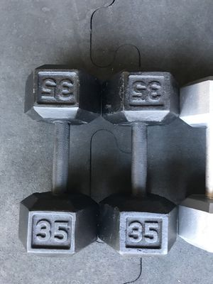 Hex Dumbbells (2x35s) for $45 Firm!!! for Sale in Burbank, CA