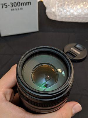 Canon 75-300mm f/4-5.6 III Telephoto Zoo for Sale in Skokie, IL