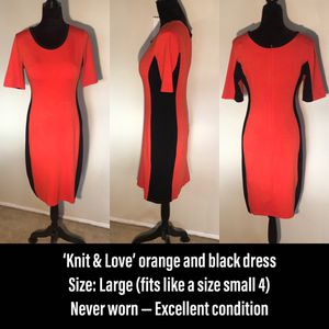Knit & Love orange and black dress for Sale in Shoreline, WA