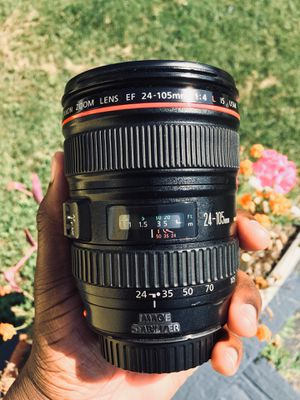 Canon Lens: L-Series EF 24-105mm 1:4 for Sale in Buffalo, NY