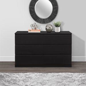 6-Drawer Dresser, Black Oak for Sale in Fort Lauderdale, FL