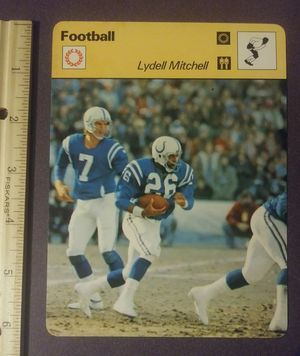 1978 Sportscaster Lydell Mitchell Baltimore Colts Bert Jones Sport Photo Large Oversized Football Card HTF Collectible Vintage Italy NFL for Sale in Salem, OH