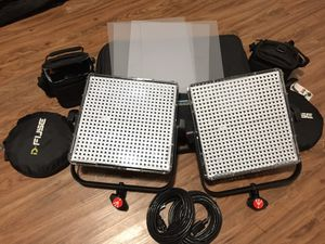 Manfrotto 1x1 LED video/photography Lights (2) for Sale in Dallas, TX