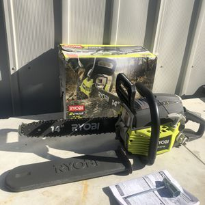 RYOBI 14 in. 37cc 2-Cycle Gas Chainsaw for Sale in La Habra Heights, CA
