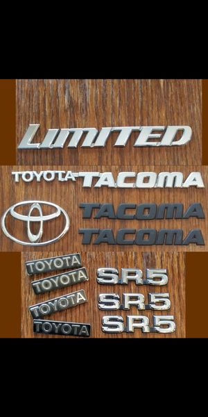 TOYOTA Emblems letters badges for Sale in San Bernardino, CA