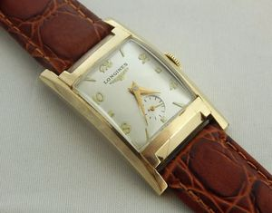 1951 LONGINES CURVED RECTANGULAR SILVER DIAL MEN'S 10K CASE for Sale in Covina, CA