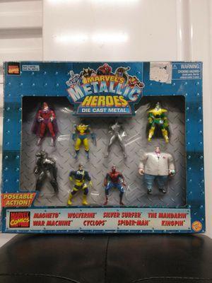 Marvel's Die Cast Metal Metallic Heroes Poseable Action Figures for Sale in Raleigh, NC