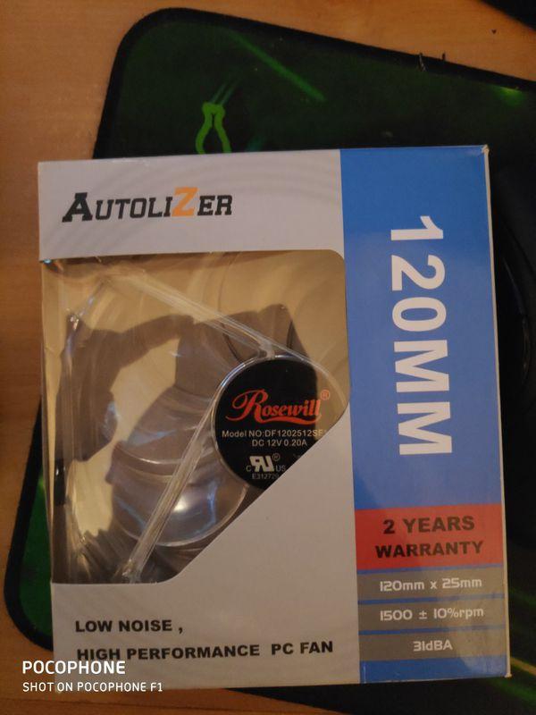120mm blue led pc fan