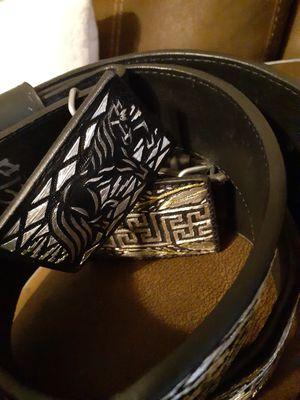Cintos de México..sincelados y de plata ..en berwyn il también tengo esta montura nueva.. for Sale in Stickney, IL
