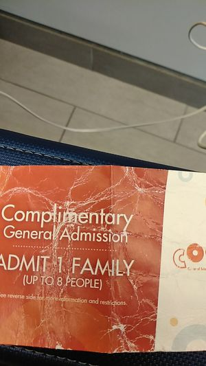 COSI Comp Gen Admission Ticket. 1-Family up to 8 people for Sale in Columbus, OH