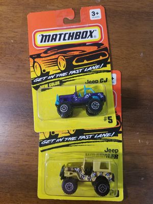 Matchbox Jeep CJ and Jeep Wrangler for Sale in Newburgh, IN