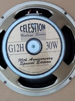 G12H Anniversary 30W 8ohm Guitar Speaker By Celestion - Used But In Proper Working Order for Sale in Norwalk,  CA