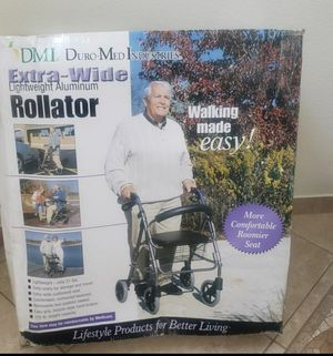 DURO-MED Lightweight Extra-Wide Rollator 375 Capacity for Sale in Orlando, FL