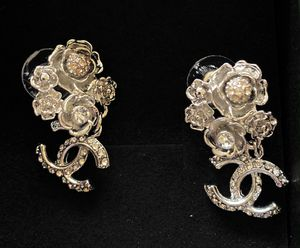 Silver camellia silver earrings studs for Sale in Fremont, CA