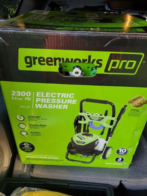Green Works Cold water pressure washer for Sale in Silver Spring, MD