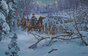 """A Mort Künstler- """"Confederate Crossing"""" for Sale in Harpers Ferry, WV"""