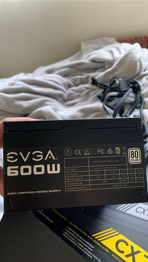 EVGA - 80 PLUS 600W ATX 12V/EPS 12V Power Supply - Black - 600 watt for Sale in San Diego, CA
