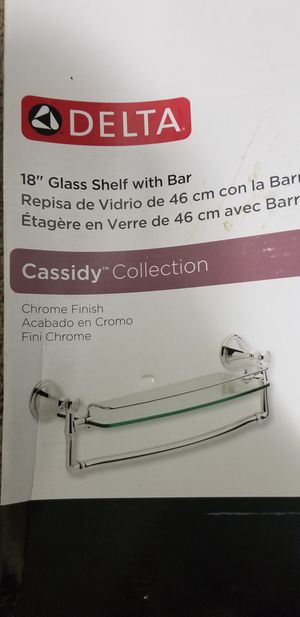 Bathroom glass shelf with bar for Sale in Annandale, VA