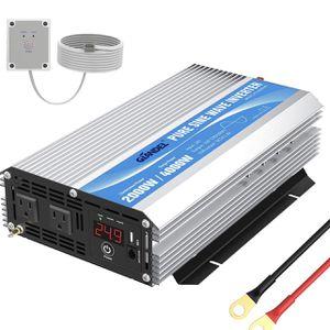 Giandel inversor de corriente de onda sinusoidal pura de 24 V a AC120 V con tomas de corriente alterna duales con mando a distancia 2.4 A USB y pantal for Sale in Ontario, CA