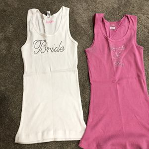 Bride To Be And Bride Tank Tops Size M Free! for Sale in Leesburg, VA