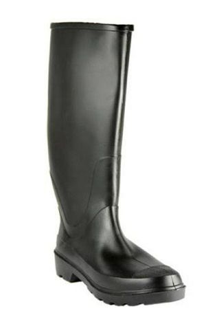 Size 9 Steel Shank Rain Boots Black for Sale in Raleigh, NC