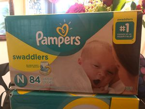 Box of Newborn diapers never been opened for Sale in West Covina, CA