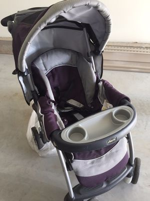 Chicco purple and black stroller for Sale in Manchester, CT