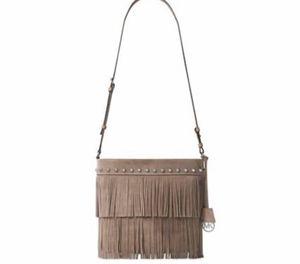 Michael Kors Billy fringe bag/purse in color Dune for Sale in Cypress, TX