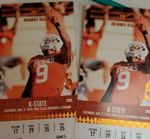 GREAT SEATS!!! TX Longhorns vs. K-State for Sale in Corpus Christi, TX