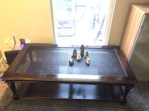 Awesome solid wood & mesh coffee table for Sale in Ashburn, VA