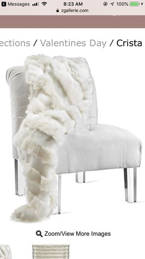 Crista throw blanket - ivory - brand new! for Sale in MIDDLE CITY EAST, PA