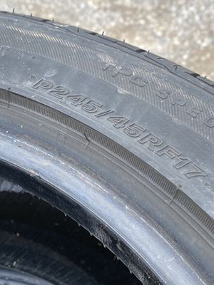 4 Used Bridgestone Tires 245/45R17 for Sale in Winchester, VA