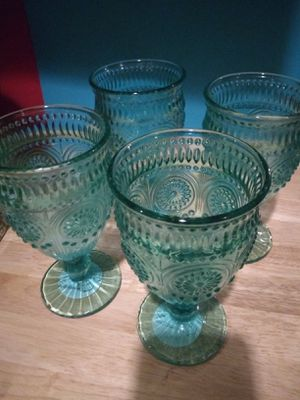 Pioneer woman teal goblets for Sale in Chester, PA