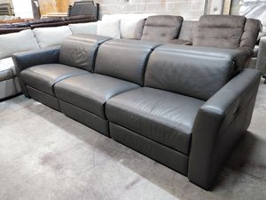 Carmine 3pc Italian leather sectional sofa for Sale in Decatur, GA