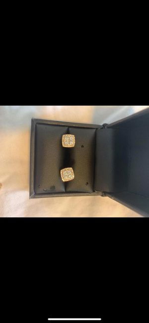 Rose gold diamond earrings and chain for Sale in Lutz, FL