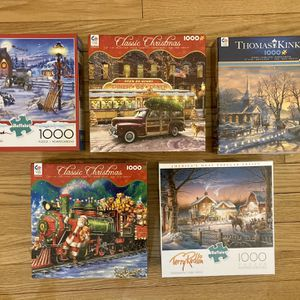 5 Christmas Jigsaw Puzzles for Sale in West Hartford, CT