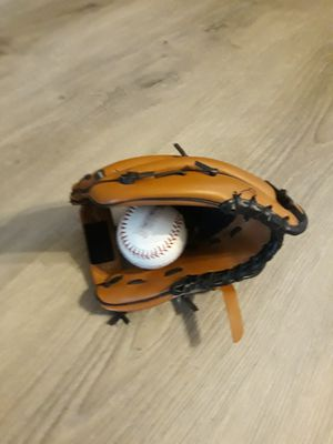 Baseball glove and ball for Sale in Tampa, FL