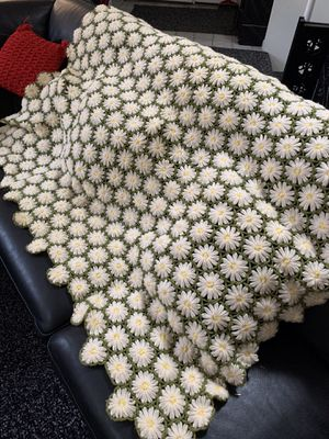 Intricate hand crochet wool throw for Sale in Columbia, MO