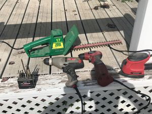 2 electric drills 1 sander and 1electric weed eater for Sale in Howard, SD