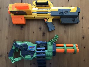Dart Zone Covert Ops Rapid Fire Blasting Dart Gun w/ Belt Motorized Battery And NERF N-STRIKE DEPLOY CS-6 Toy Blaster Dart Gun with Tactical Flood Li for Sale in Alexandria, VA