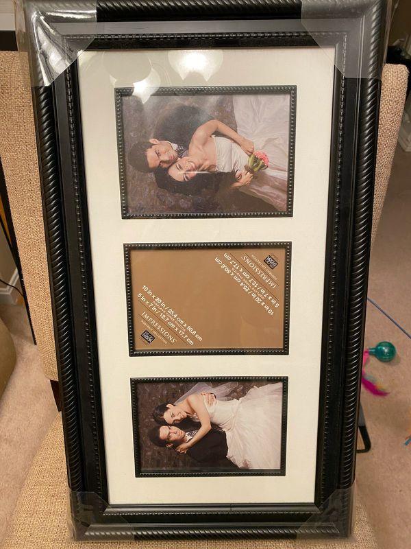 Black framed 5×10 picture frame