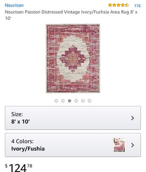 Ivory and Fuchsia 8 x 10 rug for Sale in St. Louis, MO