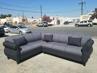 NEW 7X9FT ELITE CHARCOAL FABRIC COMBO SECTIONAL COUCHES for Sale in South El Monte,  CA