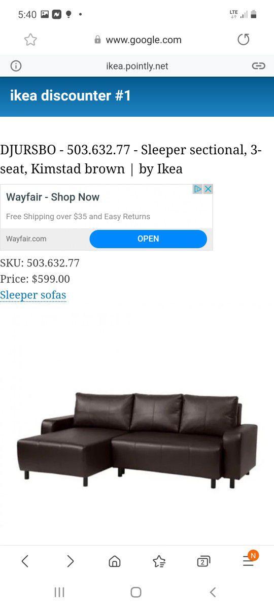 Ikea Djursbo Sleeper Sofa